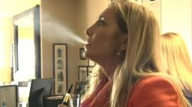 Cheryl Shuman smoking marijuana