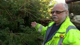 Dennis Walters, who woke up to find a tree had crashed into his kitchen