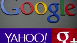 Google and Yahoo! graphics