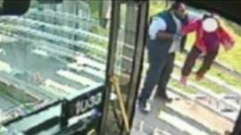 Bus driver helps girl on expressway bridge