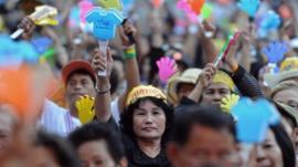 Protesters in Bangkok