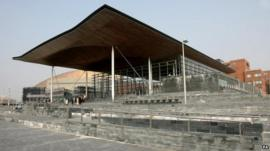 Welsh assembly Senedd building