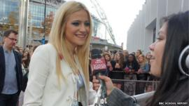 Pixie Lott interviewed by School Reporter Tabassum from Skinners' Academy in Hackney