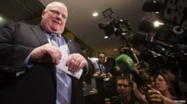 Toronto's Mayor Rob Ford