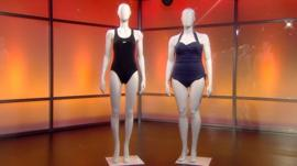 Size 10 and size 16 mannequin