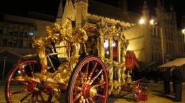 State coach at the Guildhall, London