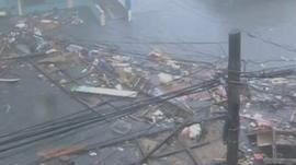 Damage in Leyte province