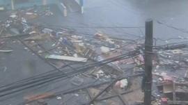 Damage in Leyte province
