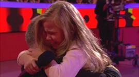 Megan Adams emotional reunion with her dad Lt Cdr Billy Adams