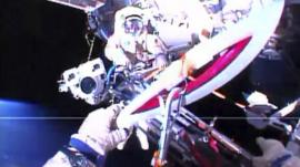 Olympic torch in space