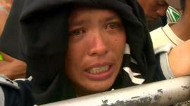 Philippines typhoon survivor