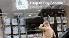 Help to Buy scheme sign in estate agent window