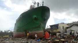 Typhoon Haiyan debris