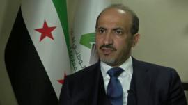 Ahmad Jarba, head of the Syrian National Coalition