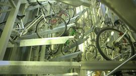 A robotic bike park