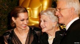 Angelina Jolie, Angela Lansbury and Steve Martin