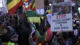 Ethiopia London demo