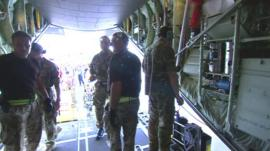 C130 aid plane