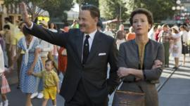 Tom Hanks as Walt Disney and Emma Thompson as P.L Travers