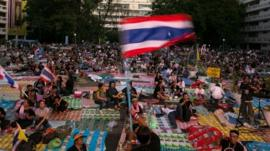Anti-government Protesters Occupy Government Ministries
