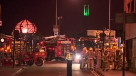 Fire crews at crash site