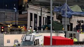 Rescue work continues at The Clutha