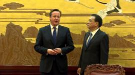 David Cameron and Premier Li Keqiang