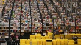 An Amazon warehouse