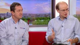 Chris Boardman and New York City transport policy director Jon Orcott