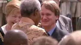 Russell Goodway meeting Nelson Mandela