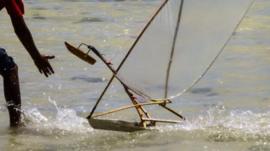 Toy boat's in Kiribati