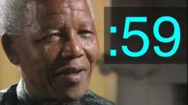Nelson Mandela and 59-second symbol