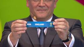 England is drawn from pot 4 of the World Cup 2014 draw