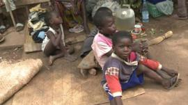 Displaced children in Bossangoa