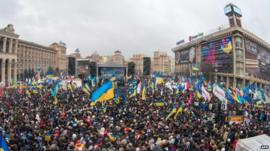 Protesters in Independence Square