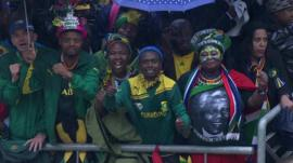 Crowds in stadium