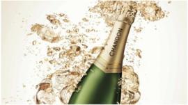 Bottle of Chandon sparkling wine