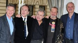 Michael Palin pictured with other members of Monty Python