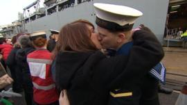 HMS Bulwark returns to Plymouth