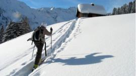 A cross country skier