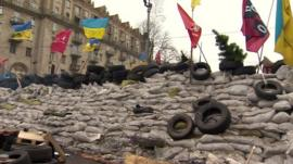 Barricade in Ukraine