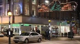 Police cordoned off part of Belfast city centre