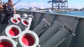 Warship weapons