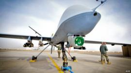 British Reaper drone in Afghanistan