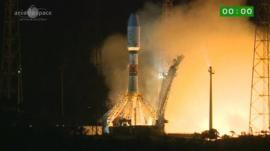 The Gaia probe launching from French Guiana