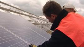Installing solar power panels