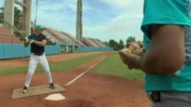 Batter preparing to hit