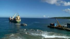 Christmas ship arrives at Niue