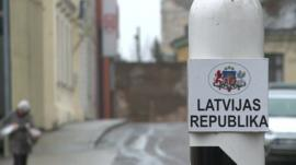 Latvian border post