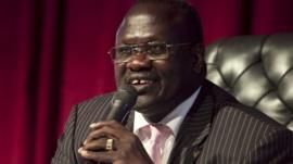 South Sudan rebel leader Riek Machar